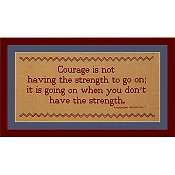 Burdhouse Stitchery - Courage THUMBNAIL