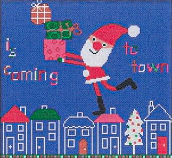Susanamm Cross Stitch - Is Coming To Town MAIN