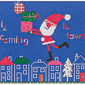 Susanamm Cross Stitch - Is Coming To Town THUMBNAIL
