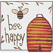 Susanamm Cross Stitch - Bee Happy THUMBNAIL