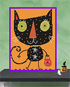 Susanamm Cross Stitch - Cat Treat THUMBNAIL