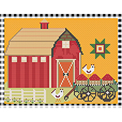 Susanamm Cross Stitch - The Barn THUMBNAIL
