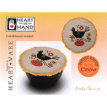 Heart In Hand Needleart - Pocket Round - Crow THUMBNAIL