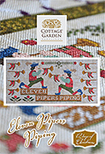 Cottage Garden Samplings - 12 Days of Christmas - Eleven Pipers Piping THUMBNAIL