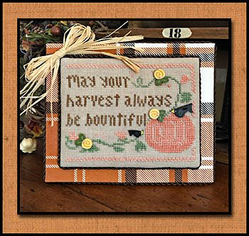 photo of Little House Needleworks - All Dolled Up - Bountiful Harvest Cross Stitch MAIN