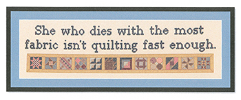 Burdhouse Stitchery - Isn't Quilting Fast Enough MAIN