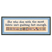 Burdhouse Stitchery - Isn't Quilting Fast Enough THUMBNAIL