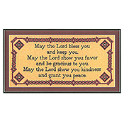 Burdhouse Stitchery - May The Lord Bless You THUMBNAIL