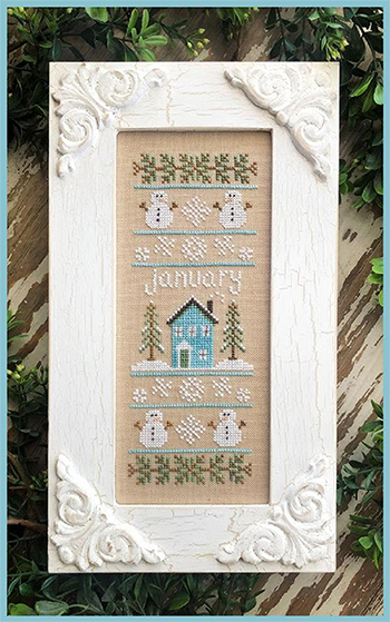 Country Cottage Needleworks - Sampler of the Month - January MAIN