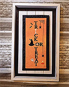 Needle Bling Designs - Wall Decor - Trick or Treat THUMBNAIL