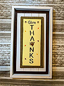 Needle Bling Designs - Wall Decor - Give Thanks THUMBNAIL