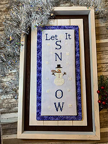 Needle Bling Designs - Wall Decor - Let it Snow MAIN