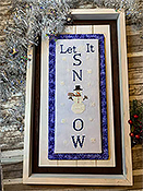 Needle Bling Designs - Wall Decor - Let it Snow THUMBNAIL