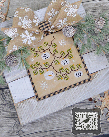 Annie Beez Folk Art - First Snow MAIN