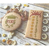 Lucy Beam Love In Stitches - Vintage Garden Pin Disk & Thread Board THUMBNAIL