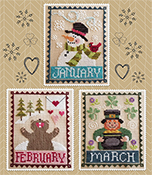 Waxing Moon Designs - Monthly Trios - January February March THUMBNAIL
