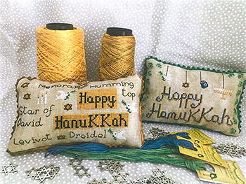 Romy's Creations - Happy Hanukkah Pillows MAIN