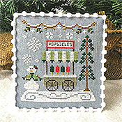 Country Cottage Needleworks - Snow Village 6 - Popsicle Cart THUMBNAIL