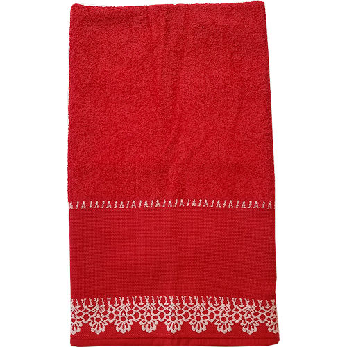 Veneza Hand Towels - Red THUMBNAIL