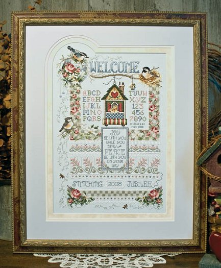 "Stoney Creek 2008 Stitching Jubilee Commemorative Sampler ""Jubilee Welcome"" Pattern"