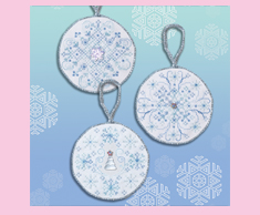 Sparkling Snowflake Ornaments
