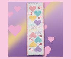 Candy Hearts Bookmark