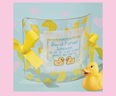 Yellow Ducky Birth Sampler
