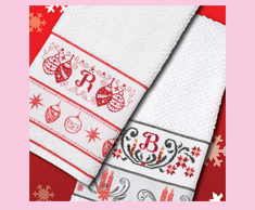 Woven Christmas Towels