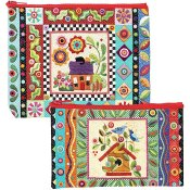 Colorful Creatures Eco Pouch (Set/2) THUMBNAIL