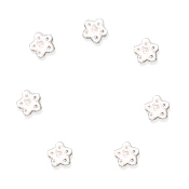 Button - White Glitter Snowflake, Extra Small - Set of 7 THUMBNAIL