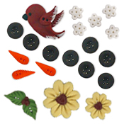 Button Pack - Flowers In Winter THUMBNAIL