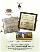 Cross Stitch Antiques - Stephenson House Sampler of Martha Jane Swearingen 1833 THUMBNAIL