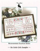 Cross Stitch Antiques - Headmistress Sampler Series - Six Little Girls Sampler THUMBNAIL