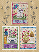 Waxing Moon Designs - Monthly Trios - April May June THUMBNAIL