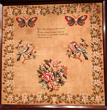 Cross Stitch Antiques - May These Lines A Relic Prove MAIN