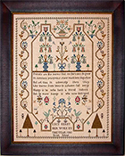 Gentle Pursuit Designs - Lucy Kerby 1805 Strait School English Sampler THUMBNAIL