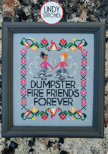 Lindy Stitches - Dumpster Fire Friends Forever MAIN