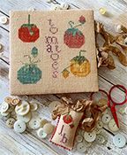 Lucy Beam - Heirloom Tomato Needlework Set Thread Board & Pin Disk THUMBNAIL