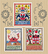Waxing Moon Designs - Monthly Trios - July August September THUMBNAIL