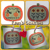 Romy's Creations - Stitch In Wood - Pumpkin THUMBNAIL