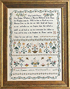 Shakespeare's Peddler - Sarah Macgregor's Sampler: The Lord's Prayer THUMBNAIL