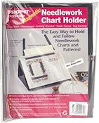Prop-It Magnetic Needlework Chart Holder w/ Magnifier