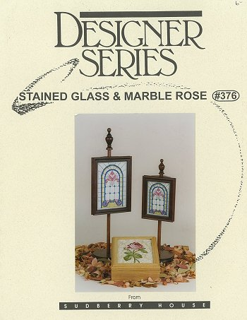 Designer Series - Stained Glass & Marble Rose