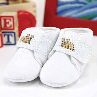 Baby Slippers w/ 18ct Velcro Strap MAIN