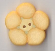 Jabco Button - 2278 Yellow Flower THUMBNAIL
