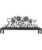 "Table Stand Header 12"" Daisy and Bee Silver Vein"