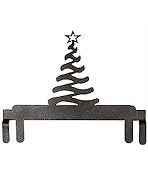 "Table Stand Header 6"" Christmas Tree Silver Vein"