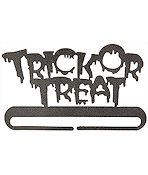 "Fabric Holder - 8"" Trick or Treat Split Bottom"