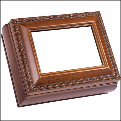 Cottage Garden Treasure Box - Rectangle Woodgrain THUMBNAIL