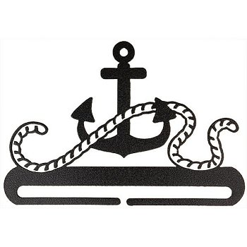 "Fabric Holder - 8"" Ships Anchor (Charcoal)"